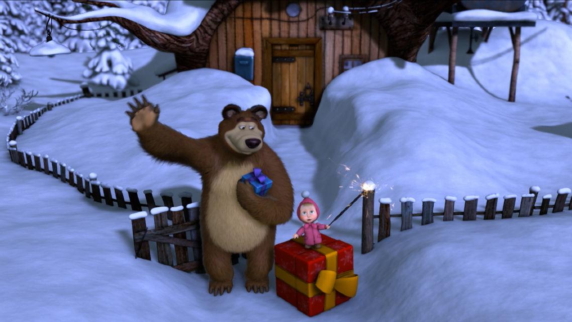 Маша и медведь серия поздравления с новым годом, поздравления парню день